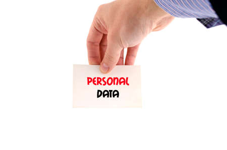datos personales: Personal data text concept isolated over white background