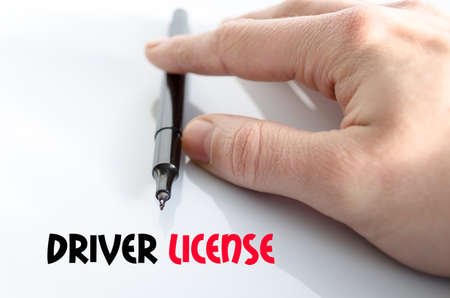 test passed: Driver license text concept isolated over white background