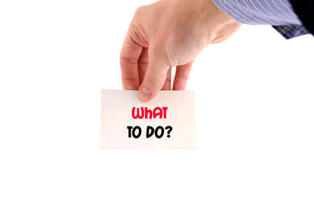 opt: What to do text concept isolated over white background