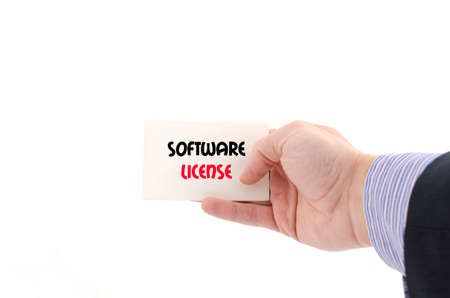 linker: Software license text concept isolated over white background