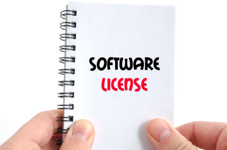 assembler: Software license text concept isolated over white background
