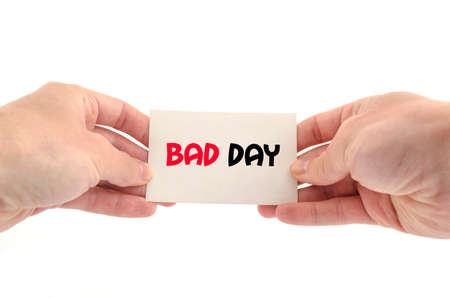 thursday: Bad day text concept isolated over white background Stock Photo
