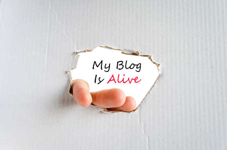 alive: My blog is alive text concept isolated over white background Stock Photo