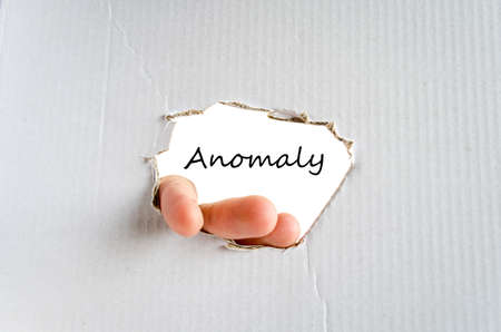 irregularity: Anomaly text concept isolated over white background Stock Photo