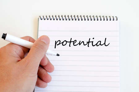 potential: Potential text concept write on notebook Stock Photo