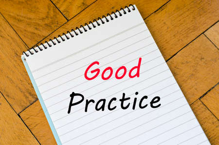 archetype: Good practice text concept write on notebook Stock Photo