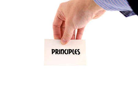 Principles text concept isolated over white background Stock Photo