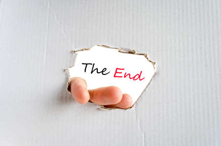 conclusive: The end text concept isolated over white background