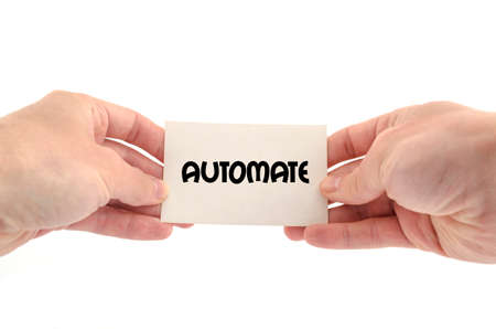 automate: Automate text concept isolated over white background