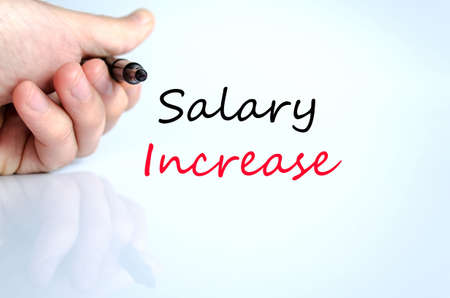 monthly salary: Salary increase text concept isolated over white background