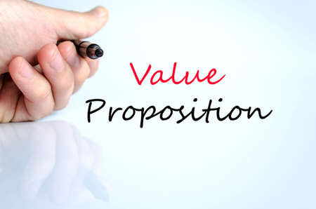 resonating: Value proposition text concept isolated over white background Stock Photo