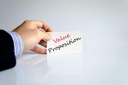 Concept de texte de proposition de valeur isolé sur fond blanc Banque d'images - 68841671