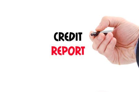 creditworthiness: Credit report text concept isolated over white background