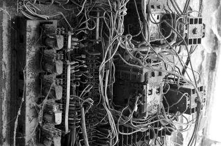 eletrical: Old rusty eletrical box