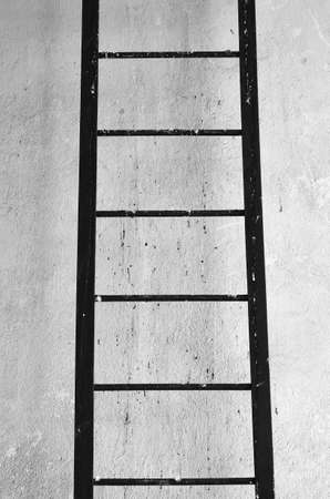 escape: Fire Escape Steel Ladder Stock Photo