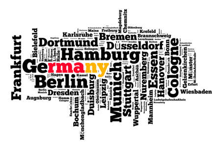 Localities in Germany word cloud concept Stock Photo