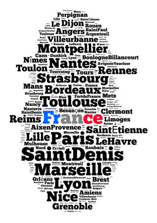 toulon: Localities in France word cloud concept