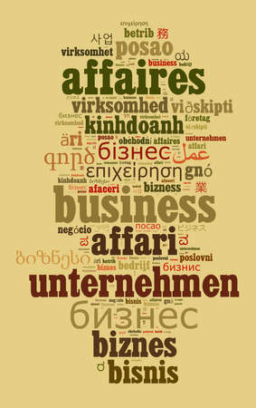 Business in different languages word cloud concept