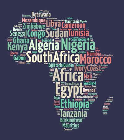 Naciones en África Foto de archivo