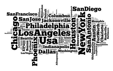 indianapolis: United States cities word cloud text concept