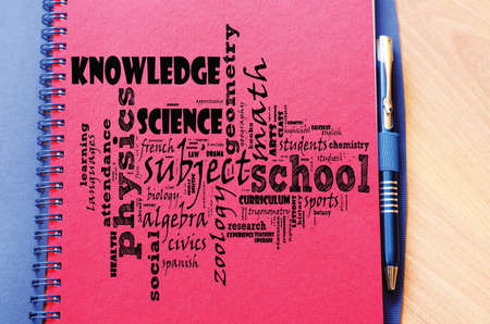 Back to school word cloud collage Stok Fotoğraf