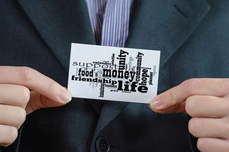 Money word cloud business concept Stok Fotoğraf