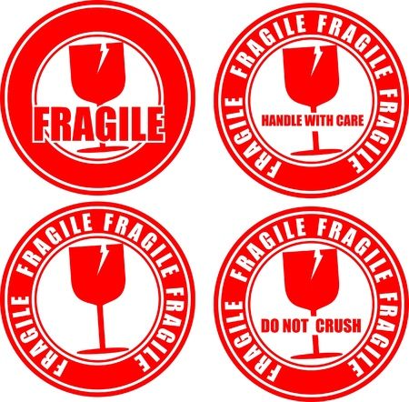Fragile, icon   Illustration
