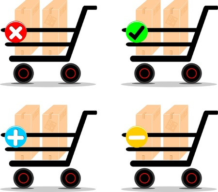Shopping carts icons Vector