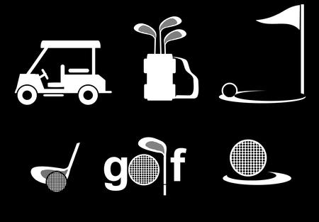 golf icon vector Vector