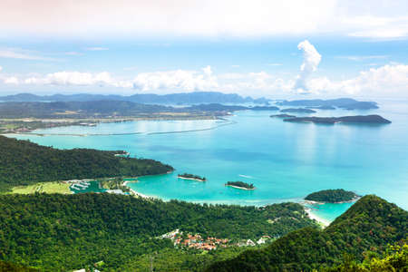 View of Langkawi island from observation deck. Malaysia. Фото со стока - 35573005