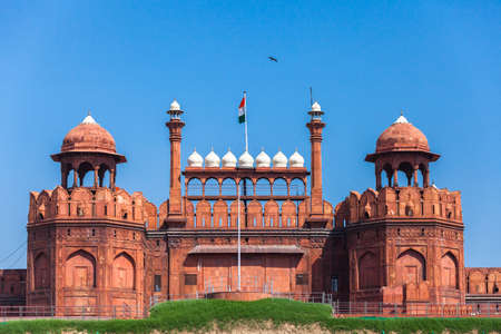 Red Fort in Delhi. UNESCO world Heritage Site, the Red Fort is an iconic symbol of India. Delhi, India. Editorial