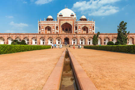 ancient india: Daytime view of Humayun Tomb, UNESCO World Heritage, India Editorial