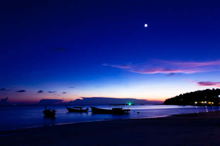 pink sunset: Night on the beach of Koh Lipe Island, Thailand.