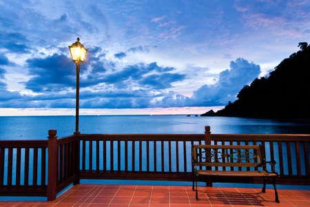 langkawi island: Sunset on the seashore of Langkawi Island, Malaysia. Stock Photo