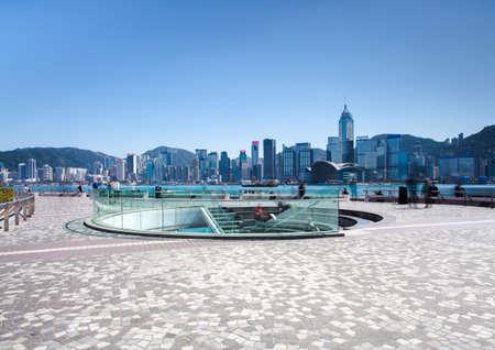 View from Tsim Sha Tsui Promenade at daytime, Hong Kong Foto de archivo