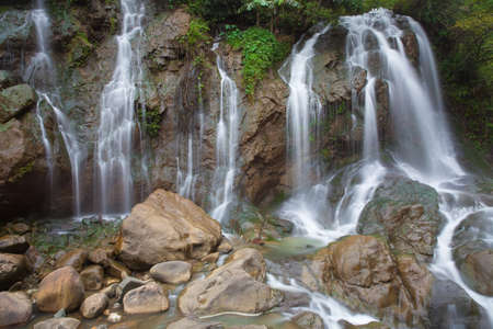 cai: Tien Sa Waterfall, Sapa village, Lao Cai Province, Northwest Vietnam. Stock Photo