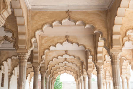 Agra Fort Diwan I Am (Hall of Public Audience), India.