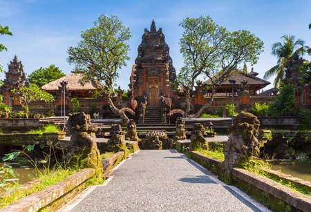 ubud: Pura Saraswati Temple with beatiful lotus pond, Ubud, Bali, Indonesia