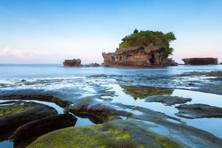 Pura Tanah Lot in the morning, famous ocean temple in Bali, Indonesia. Stock Photo - 57027425