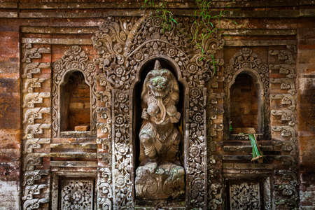 Rangda the demon queen statue in Ubud Palace, Bali, Indonesia. Stock Photo - 58303355