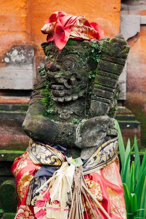 ubud: Holy balinese statue in the temple, Ubud, Bali, Indonesia