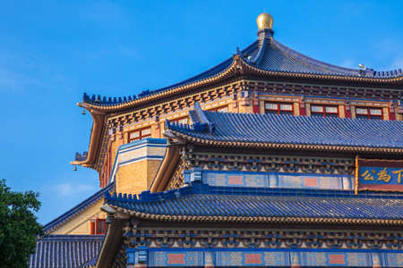 Architectural details of the Sun Yat-Sen memorial hall in Guangzhou, China