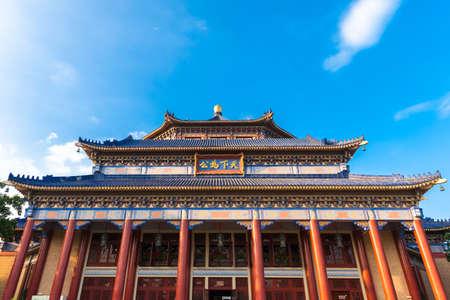 Фасад мемориального зала Сунь Ятсена в Гуанчжоу, Китай