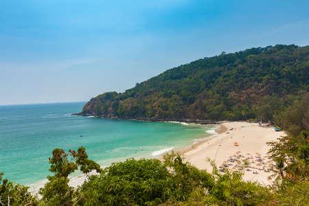 Daytime view of the Karon Noi Beach, Phuket, Thailand.