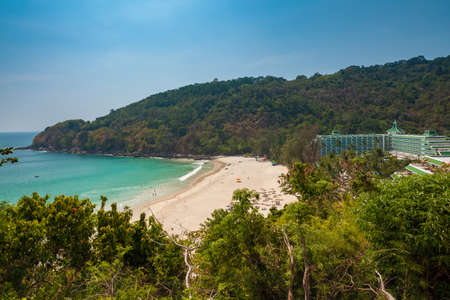 Daytime view of the Karon Noi Beach, Phuket, Thailand.