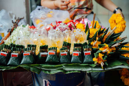 Chiang Mai, Thailand - August 27, 2016:  An offerings stall at the Warorot market on August 27, 2016 in Chiang Mai, Thailand. Редакционное