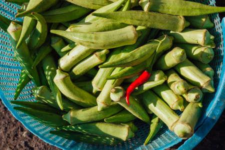 Овощи на уличном рынке, Вьетнам