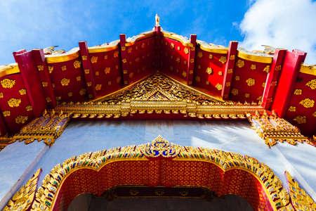 Bangkok, Thailand - September 10, 2016: Wat Benchamabophit also known as Marble Temple at sunset on Septemper 10, 2016 in Bangkok, Thailand.