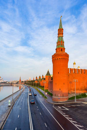 A view of Moscow Kremlin in the morning, Moscow, Russia Фото со стока