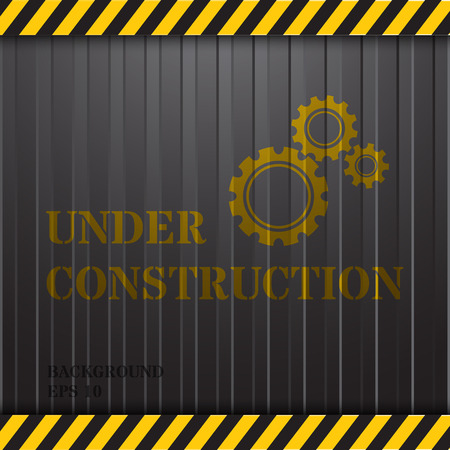 Under Construction op Container Achtergrond Stock Illustratie